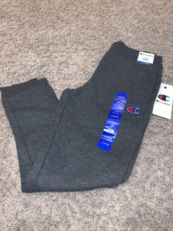 NWT Boys CHAMPION Gray Joggers Pants Size Large 14 - 16