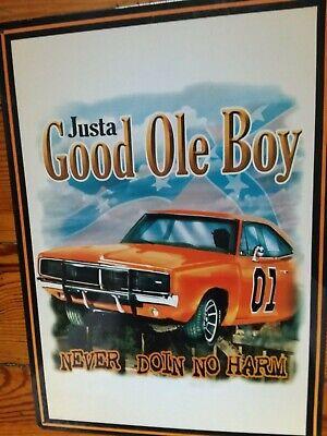 Muscle Car Sign Good Ole Boy Vintage TV  Metal Tin Advertising USA
