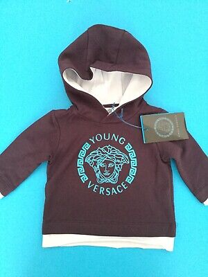 NWT NEW 3m Young Versace Blue Indigo Medusa Hooded Sweater $142