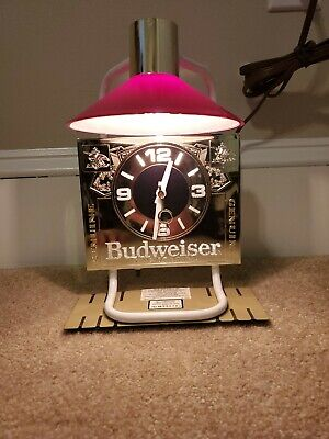 Budweiser Cash Register Light and Clock - New Old Stock - Tested and Works