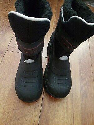 Khombu Women's Black Rubber Ankle Boots UK Size 7 EU 40