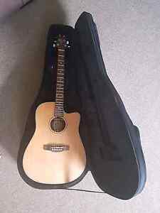 Ashton Electric acoustic guitar and hard case Minyama Maroochydore Area Preview