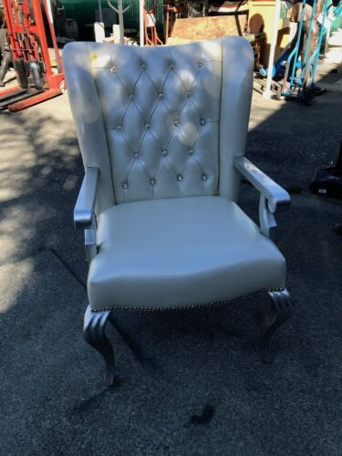 Leather Chair w/ Crystals Throughout