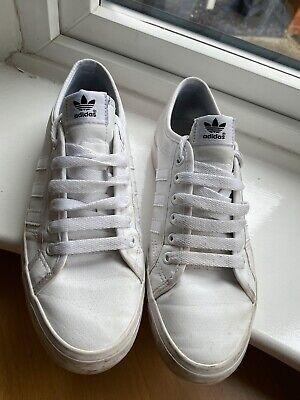 Adidas Nizza Mens White Trainer UK 9