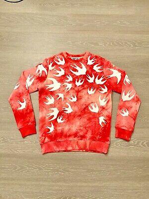 Alexander Mcqueen MCQ SWALLOW Red Tie-Dye Swallow Sweatshirt XL