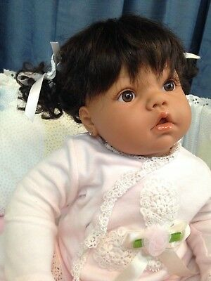 Lee Middleton Custom Newborn Doll Reva Schick Baby Face Sculpt Pierced Ears
