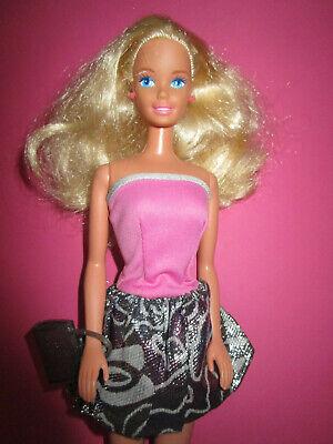 B1087) BLONDE BARBIE MATTEL BALLONKLEID BARBIE-LABEL+OHRRINGE+STIEFEL+TASCHE](Barbie Ballon)