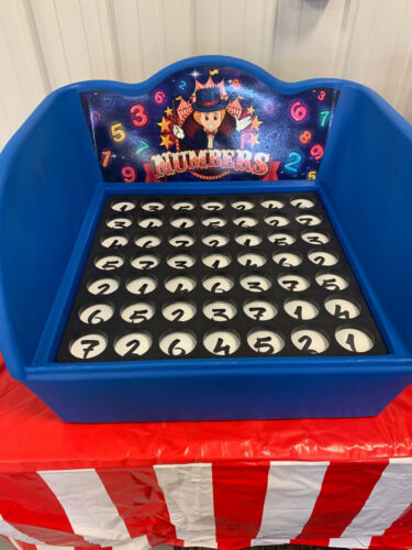 Carnival Game - Stackable Tub Case Game - Number Match Game