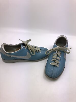 Vintage 70s Tri Tone Suede Lace Up Color Block Bowling Shoes Size 9