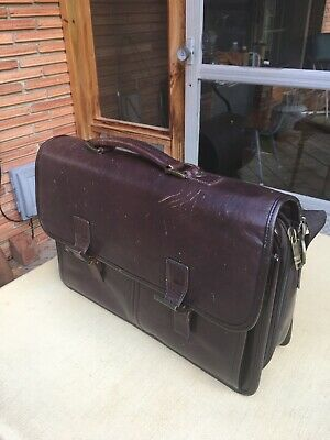 Vintage Samsonite Leather Bag Briefcase Satchel  Leather ( 17 X 6 X 13 )