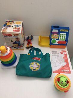 Toddler toys Fisher price blocks  & Playskool cash register HALF PRICE