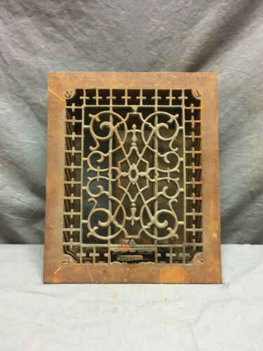 Antique Cast Iron Decorative Heat Grate Floor Register 8x10 Vintage Old 7-19L