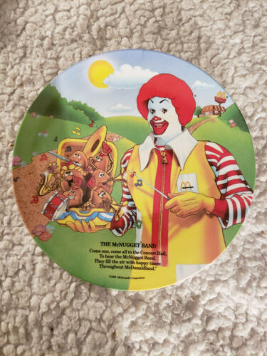 Vintage 1989 McDonalds The McNugget Band Collector Plate lot *2* free shipping