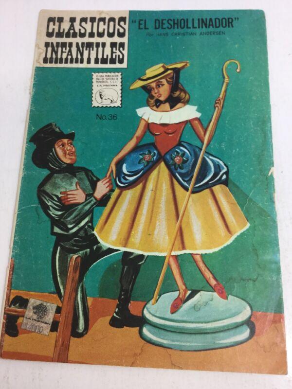 1963 SPANISH COMICS CLASICOS INFANTILES #36 EL DESHOLLINADOR LA PRENSA MEXICO