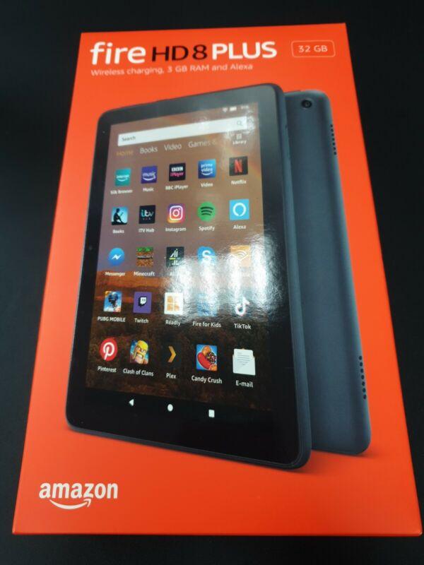 AMAZON+Fire+HD+8+Plus+Tablet+%282020%29+-+32+GB+Black++New