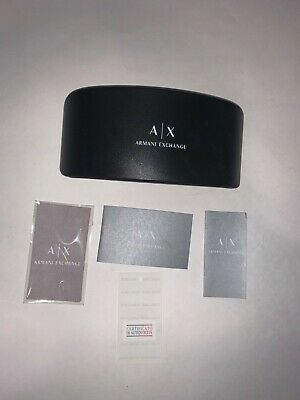 Authentic Armani Exchange Glasses Case with Cleaning Cloth (Armani Exchange Glasses Case)