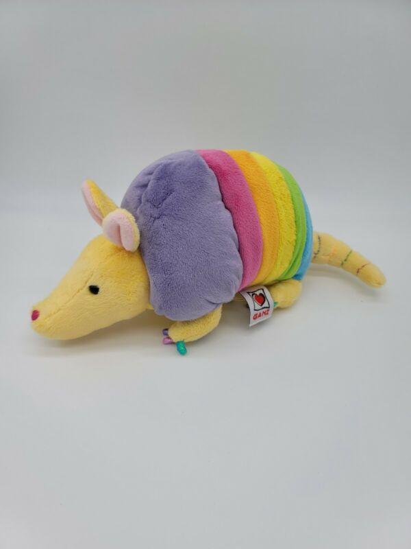 "Ganz Plush Rainbow Armadillo 11"" Stuffed Animal Toy Webkinz NO CODE"