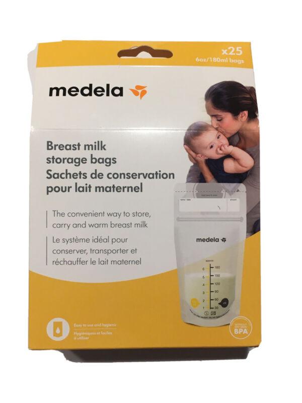 Medela Breast Milk Storage Bags, 25 Count, New/Sealed - Mom Breastfeeding