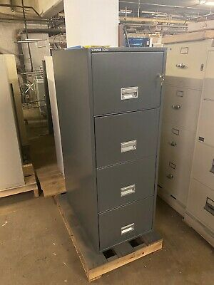 4 Drawer Legal Size Fire-proof File Cabinet By Schwab 5000 In Charcoal Gray