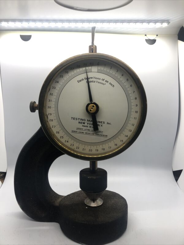 Rare antique Automatic Micrometer cast iron inspection tool