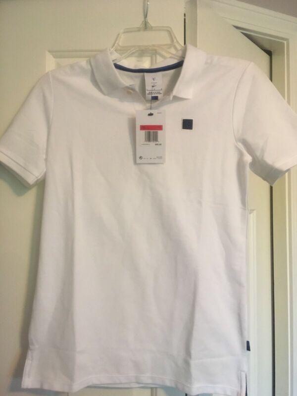 Nike Roger Federer Polo Shirt Boys LG White NWT