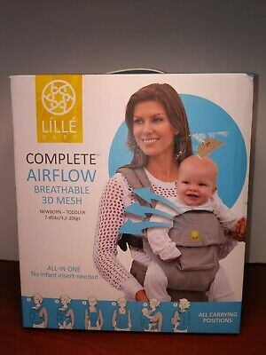 LILLEBABY Complete Airflow 6 Position 360° Ergonomic Baby Carrier Black - New!
