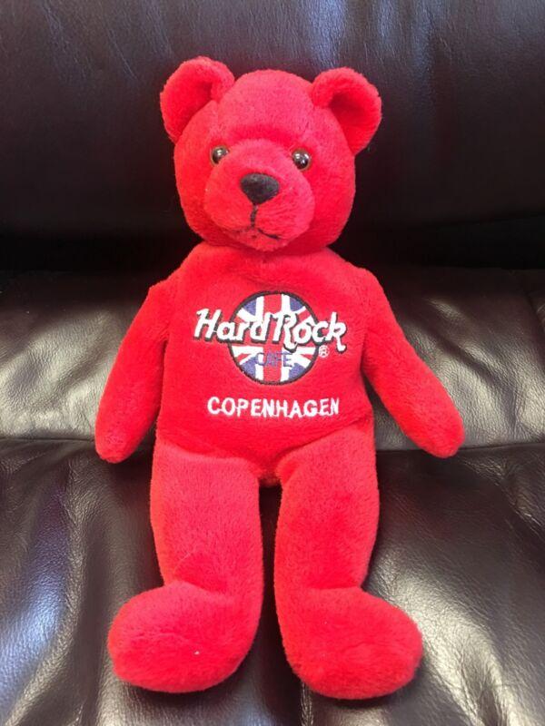 Hard Rock Cafe 2000 Rita Beara Beanie Plush RED Bear - COPENHAGEN Danish