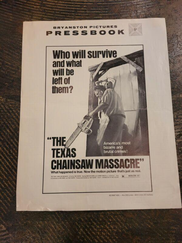 Texas chainsaw massacre Movie Pressbook 1974