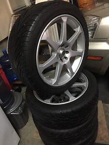"17"" multibolt tires & aftermarket rims"