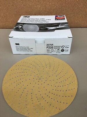 3m Clean Sanding Disc 236u 20754 6 In P220 C-weight 50 Count Box