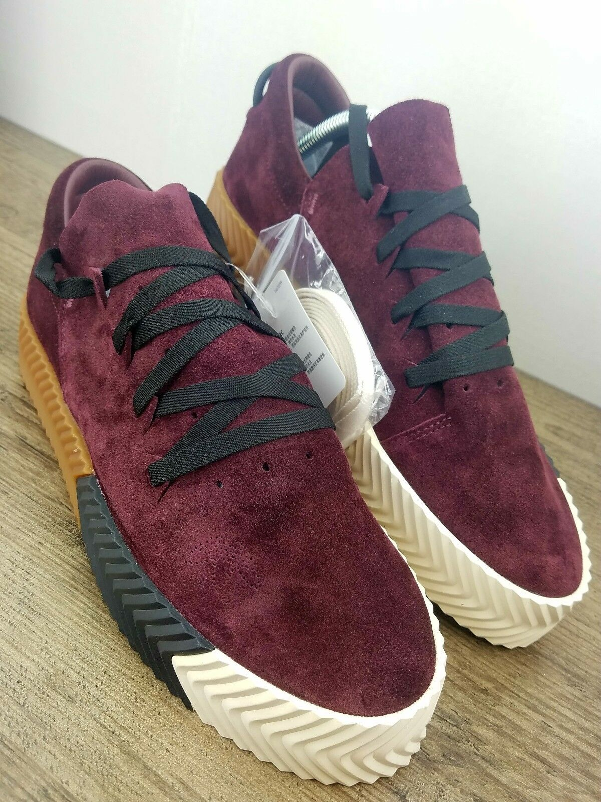 ... ADIDAS Originals ALEXANDER WANG X AW Skate Maroon Gum BY8909 US Sz 5 -  UK 4.5 ... 072be573f