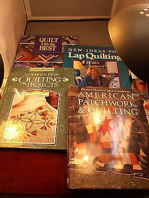 """LOT OF QUILTING BOOKS """"QUILT WITH THE BEST"""" """"LAP"""" """"AMERICA'S BEST PROJECTS"""" MORE"""