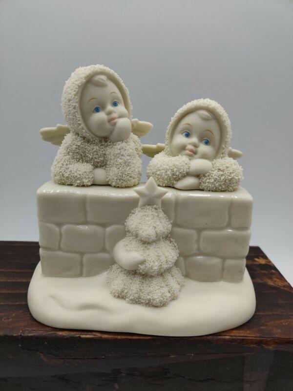 "VTG 2001 Dept 56 Snowbabies ""TWO LITTLE ANGELS"" Figurine 56.69140; 4""x4.5"""