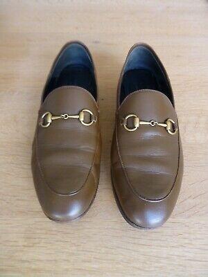 Gucci Jordaan Loafers Tan UK Size 5.5 (Euro 38)