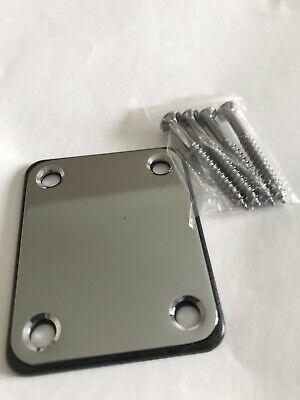 Guitar Neck plate With Screws For Strat/Tele UK Seller