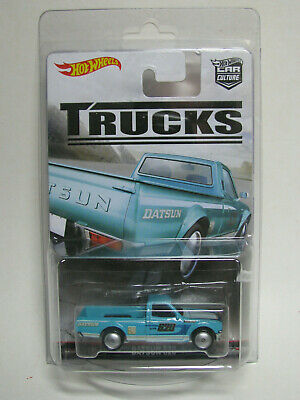 Hot Wheels 2017 Trucks Series Datsun 620 Blue all metal real riders Car Culture