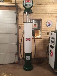 Man Cave - Visible Gas pump replica.