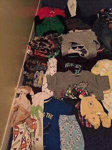 Lot of boy clothes from nb-24months, 45$
