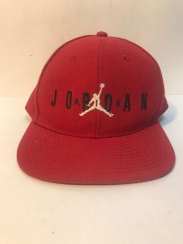 Air Jordan Jumpman Red w/ Black Adjustable Strapback Youth Hat Cap