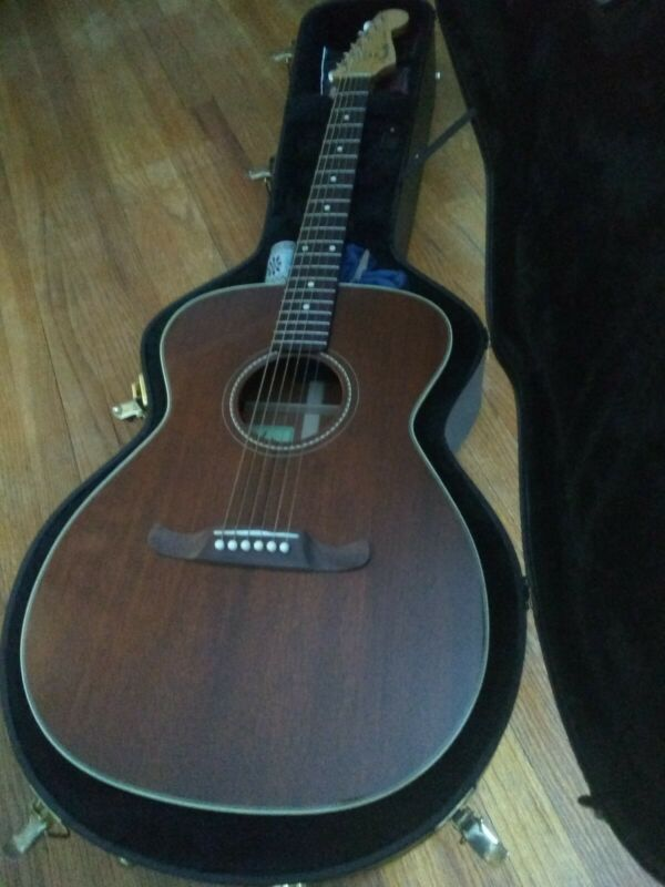 Fender Newporter USA Select Acoustic Electric Guitar w/ Deluxe Fitted Hard Case