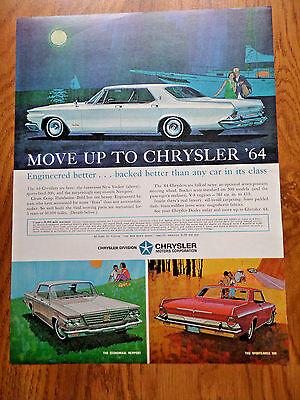 1964 Chrysler Ad New Yorker Newport & Sports-Bred 300
