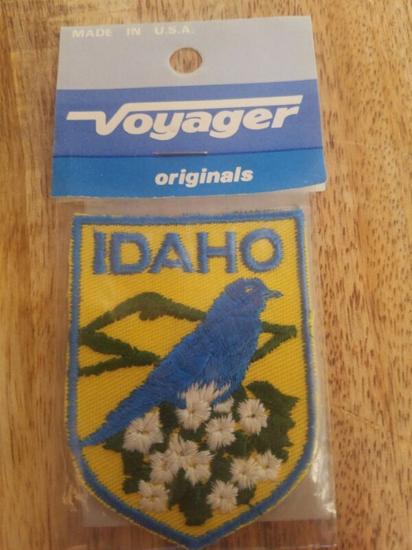 Vintage Embroidered Patch Badge Souvenir Travel Sew On State IDAHO New Old Stock