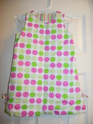 *CHEZ AMI by PATSY AIKEN* Reversible Polka Dot/Stripe Dress w' Bloomers Size 3 Amy Dot Stripe