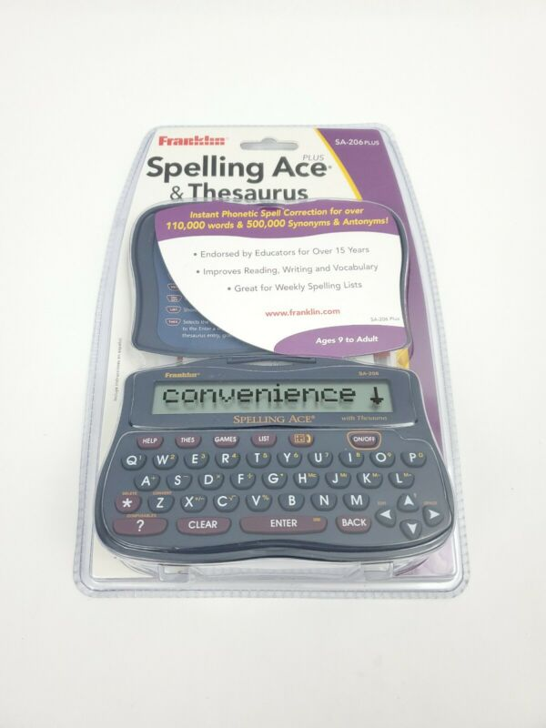 NEW Franklin Spelling Ace and Thesaurus SA-206 PLUS