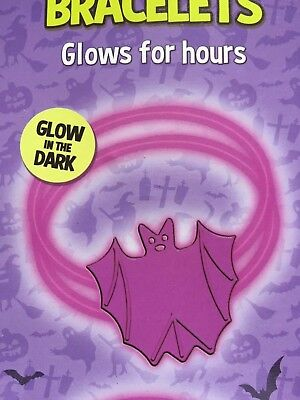 HALLOWEEN GLOW IN THE DARK PURPLE BATS BRACELETS, - Halloween Glow Pack