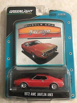 GREENLIGHT 1:64 MUSCLE CAR GARAGE RED 1972 AMC JAVELIN AMX #12700