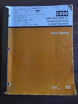 Case 480f 480f Ll Construction King Loader Backhoe Parts Catalog 8-6221 April 94