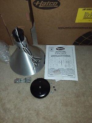 Hatco Heat Lamp Nickel Dl-775-sl Bell 250w Bar Modern Hanging Light Food New
