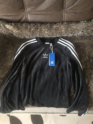 Adidas Velvet Sweater With Flare Sleeve - Size 4
