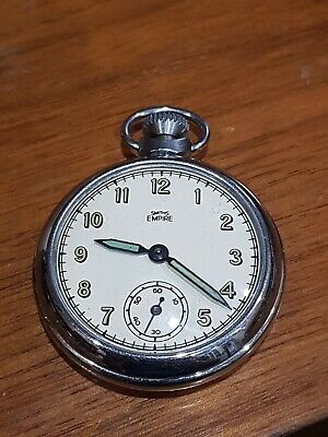 Smiths empire chrome pocket watch vintage good condition